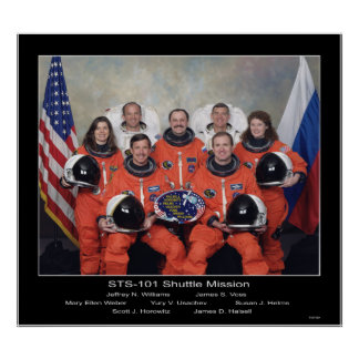 Crew of the STS-101 Shuttle Mission - 2000 Poster