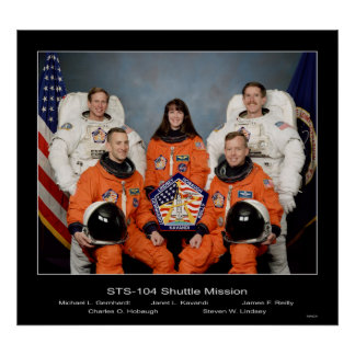 Crew of the - STS-104 Shuttle Mission - 1002 Print