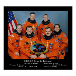 Crew of the STS-68 Shuttle Mission - 1994 Poster