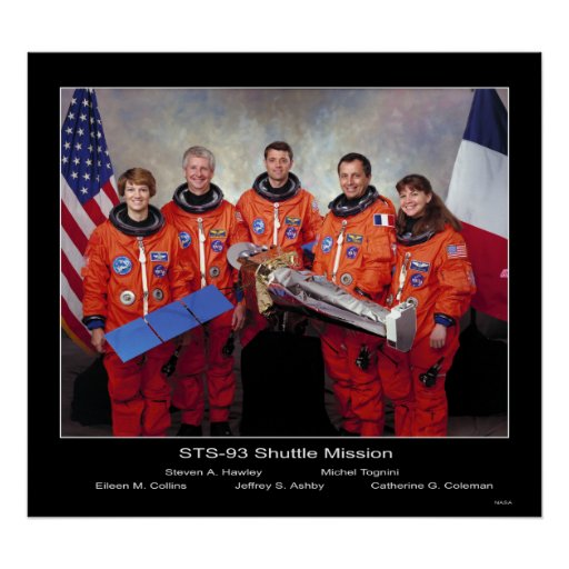 Crew of the STS-93 Shuttle Mission Posters