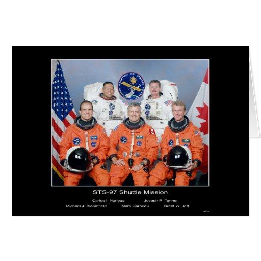 Crew of the STS-97 Shuttle Mission - 2000 Greeting Card