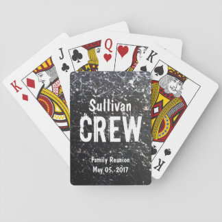CREW | Paint Splatter Name | Family Reunion Playing Cards