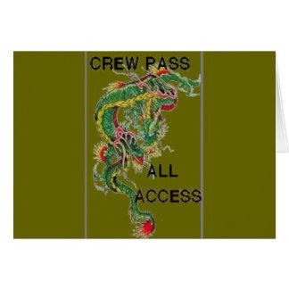 crew pass card