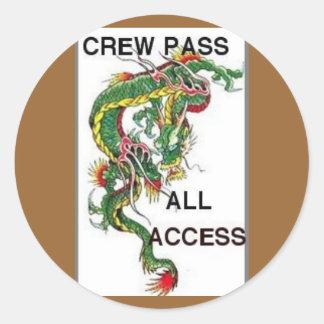 crew pass classic round sticker