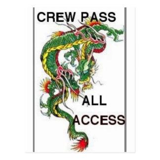 crew pass postcard