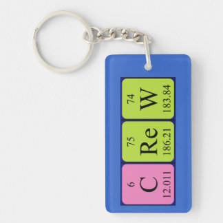 Crew periodic table name keyring keychain