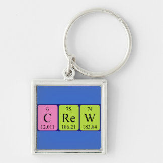 Crew periodic table name keyring keychains