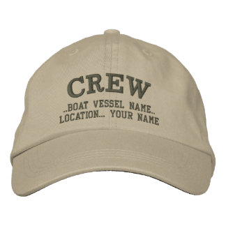 CREW Personalize Your Boat Your Name Embroidered Baseball Cap