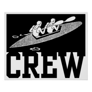 Crew Rowing Poster
