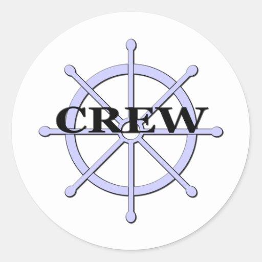 Crew Ship Wheel Sticker