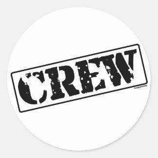 Crew Stamp Classic Round Sticker