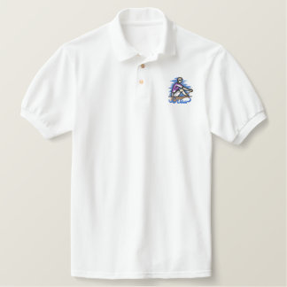 Crew Team Embroidered Polo Shirt