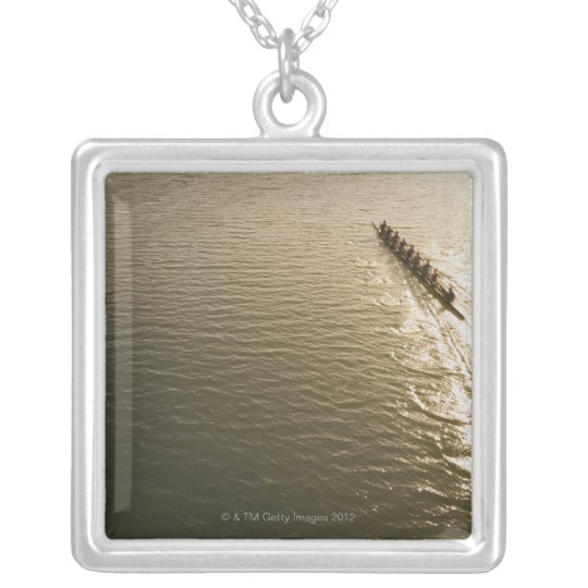Crew Team Silver Plated Necklace