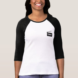 Crew Typography Black White Clapperboard T-Shirt