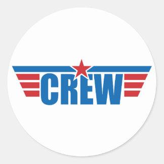 Crew Wings Badge - Aviation Classic Round Sticker