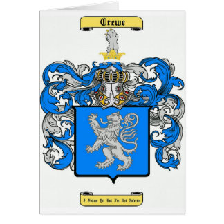 crewe tarjeta de felicitación