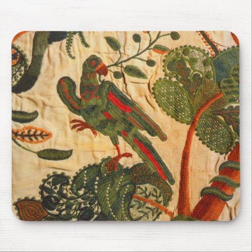 Crewel Bird Mouse Pad