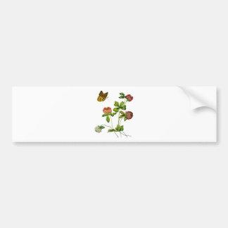 Crewel Embroidered Irish Clover Bumper Sticker