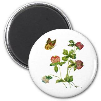 Crewel Embroidered Irish Clover Magnet