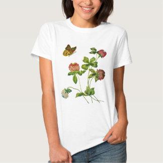 Crewel Embroidered Irish Clover T-shirt