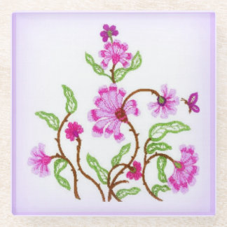 Crewel to be Kind Glass Coaster
