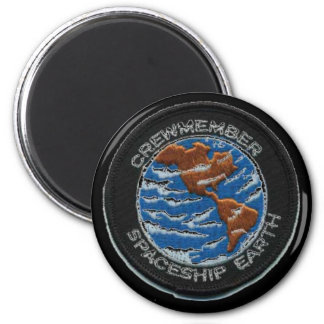 Crewmember Spaceship Earth 2 Inch Round Magnet