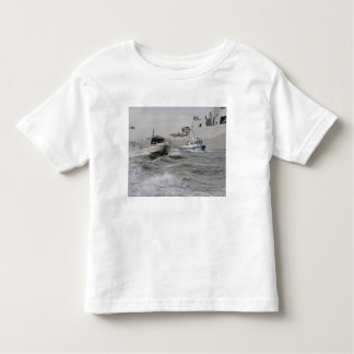 Crews from the coast guard and police departmen toddler t-shirt