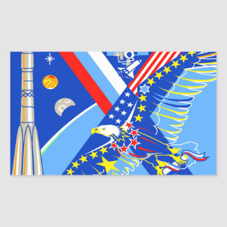 Crews to the ISS:  Expedition 14 Rectangular Stickers