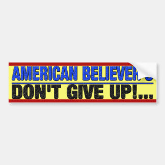 Creyente americano pegatina para auto