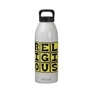 Creyente religioso devoto botella de beber