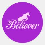 Creyentes del unicornio de N.A.U.B Pegatinas