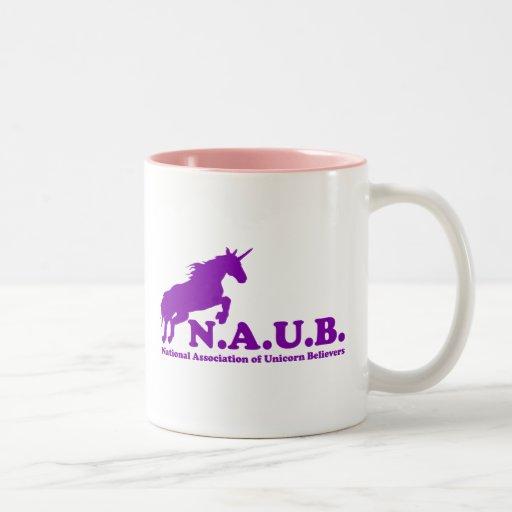 Creyentes del unicornio de N.A.U.B Taza