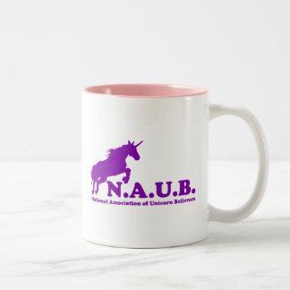 Creyentes del unicornio de N.A.U.B Taza De Dos Tonos