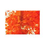 Creyón anaranjado con la lona de la foto de las vi impresiones en lona