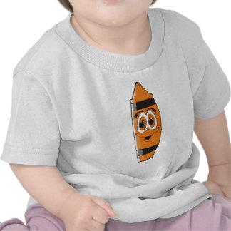 Creyón anaranjado S del dibujo animado Camisetas