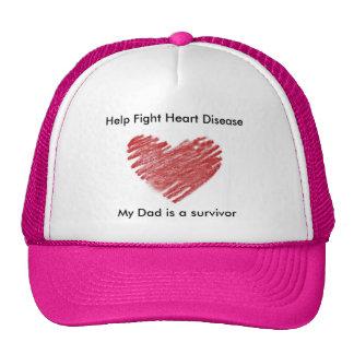 creyón del corazón, enfermedad cardíaca de la luch gorros bordados