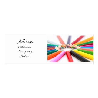 Creyón del lápiz del artista plantillas de tarjetas de visita