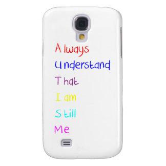 Creyón del poema del Acrostic del autismo Funda Para Galaxy S4