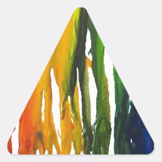 Creyón derretido en sondeo pegatina triangular