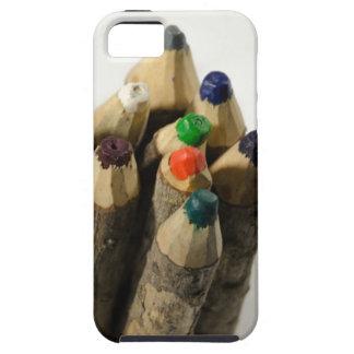 Creyón jamaicano hecho a mano del lápiz, caso de I iPhone 5 Carcasas