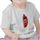Creyón rojo del dibujo animado camiseta