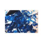 Creyones azules con la lona de la foto de las viru impresiones en lona estiradas