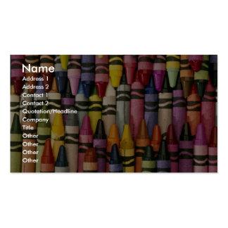 Creyones coloridos plantillas de tarjeta de negocio