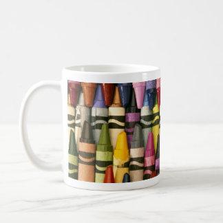 Creyones coloridos taza de café