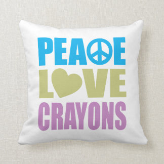 Creyones del amor de la paz almohada