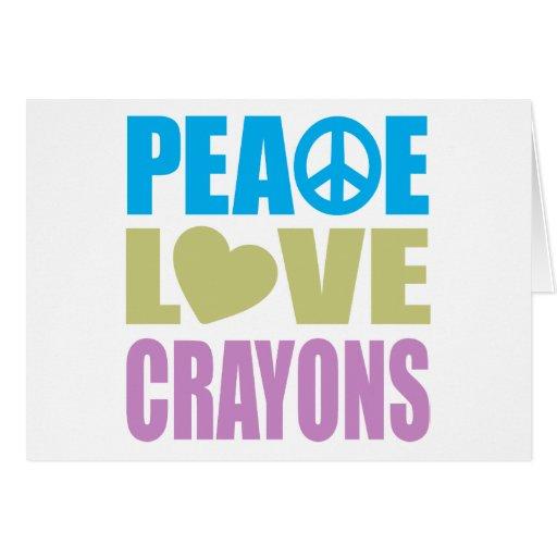 Creyones del amor de la paz felicitación