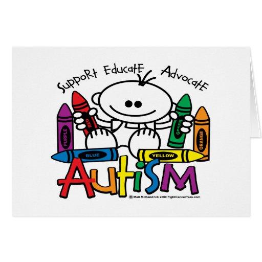 Creyones del autismo felicitacion