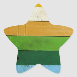 Creyones del carbón de leña pegatina en forma de estrella