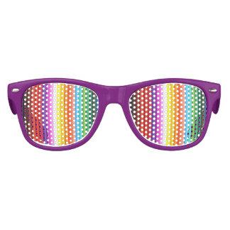 Creyones multicolores del lápiz del color lentes de fiesta