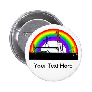 Creyones que colorean un arco iris pins